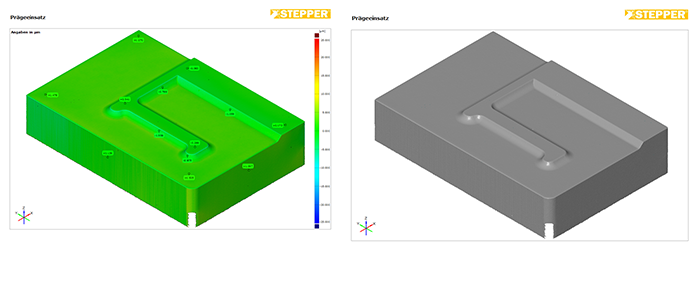 Alicona 3D measurement of a die